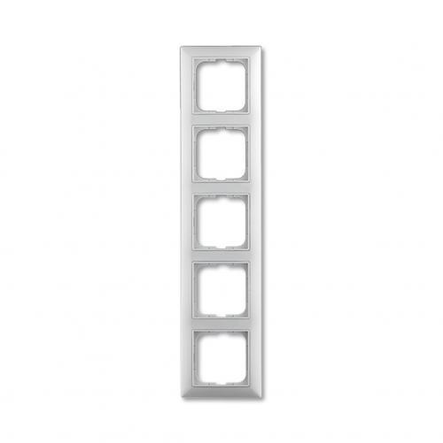 ABB - Рамка петорна ABB Basic55 Бяло 1725-0-1483 хоризонтална и вертикална