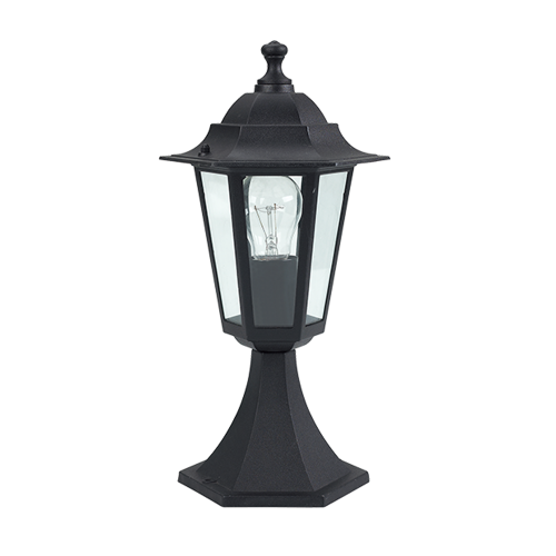 ACA LIGHTING - Градински фенер стоящ черен влагозащитен IP44 PLGQ3B