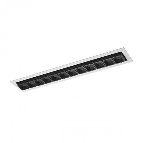 ITALUX - LED панел 24W 1510 lm 3000 K Цвят на лампата  Бял черен  Harper SL74108/24W S-WH