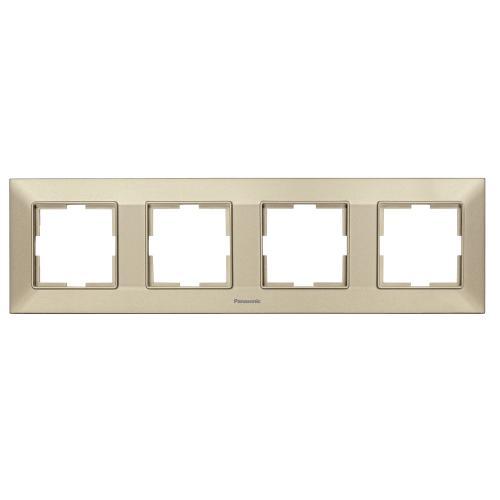 PANASONIC - Рамка четворна хоризонтална бронз PANASONIC Arkedia slim  WNTF0804-2BR