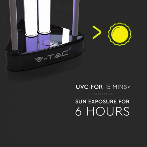V-TAC - 38W UV-C Бактерицидна Антивирусна Лампа с Озон за 60м2 SKU: 11203 VT-3238