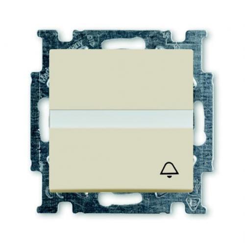 ABB - Бутон със символ звънец и място за етикет ABB Basic55 крем 2CKA001413A1087