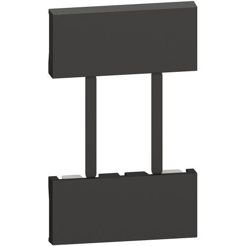 BTICINO - Лицев панел за Gateway със Smart контакт немски стандарт 2 мод. Living Now черен KG51