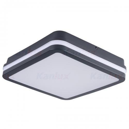 KANLUX - Плафон влагозащитен графит 24W 4000K IP54 BENO 24W NW-L-GR (33343)