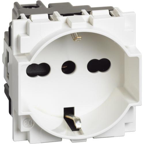 BTICINO - KW4140A16 2P+E 16A 250VAC немски и италиански стандарт бяло Living Now