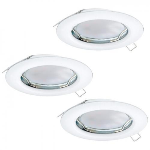 EGLO - LED к-т 3 х луни за вгр. LED GU10 3x3W 3х200lm Ø78 бяло неподв. 'PENETO 94235