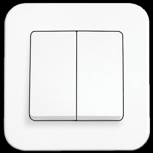 VIKO - 2-gang One-way Switch 90420002 white