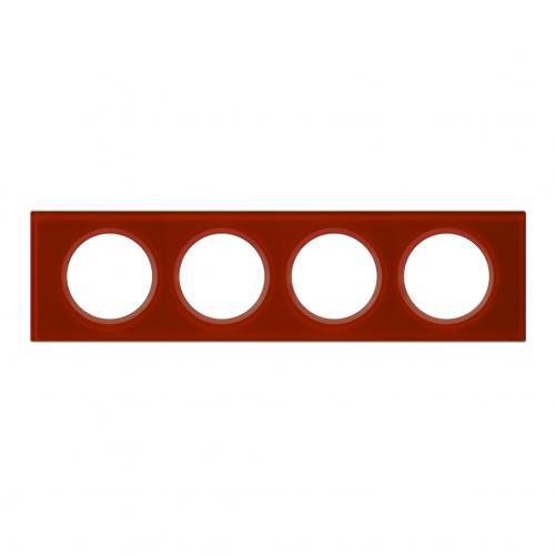 LEGRAND - Четворна рамка Celiane 69474 стъкло кармин