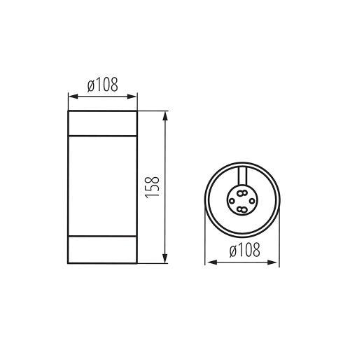 KANLUX - Луна влагозащитена за външен монтаж E27 BART DL-160 (28801)