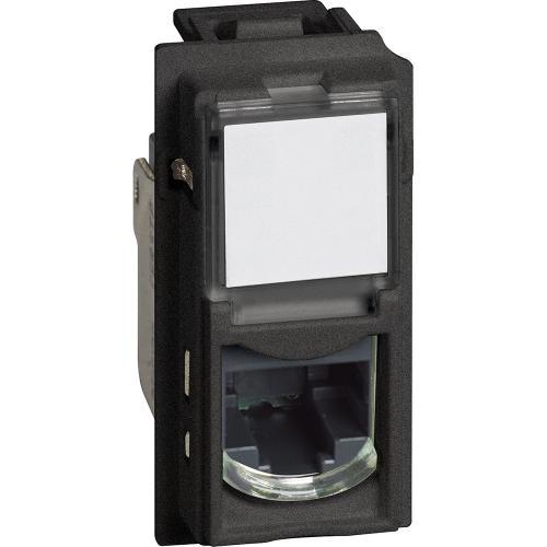 BTICINO - Розетка RJ45 cat.5e UTP конектор toolless IDC 1 мод. цвят Черен Living Now Bticino KG4279C5E