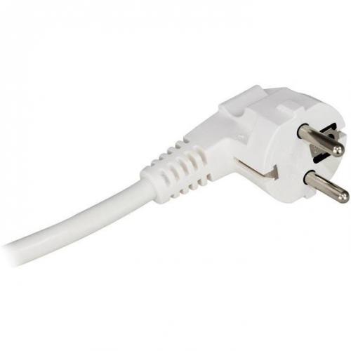 COmmel - Кабел бял с щепсел Г-образен H05VV-F 3х2,5мм2 2 метра Commel 0614
