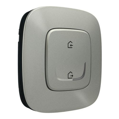 LEGRAND - Сценариен ключ БЕЗжичен излизам/прибирам се Smart Valena Allure Алуминий с рамка Legrand с Netatmo 752786
