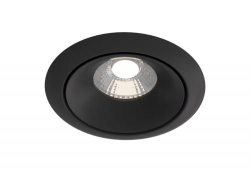 MAYTONI - LED Луна за вграждане кръгла черна Yin DL031-2-L12B