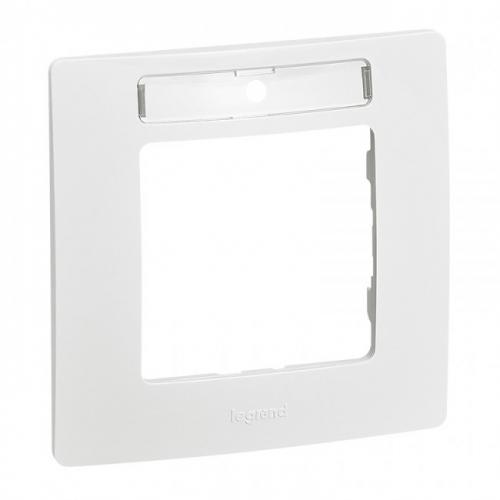 LEGRAND - 6 650 06 Plate Niloé - 1-gang - with label-holder - white