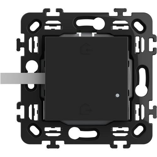BTICINO - RG4570CW Сценариен ключ Smart излизам/прибирам се БЕЗжичен с 2 мод. носеща рамка цвят Черен Classia Bticino с Netatmo