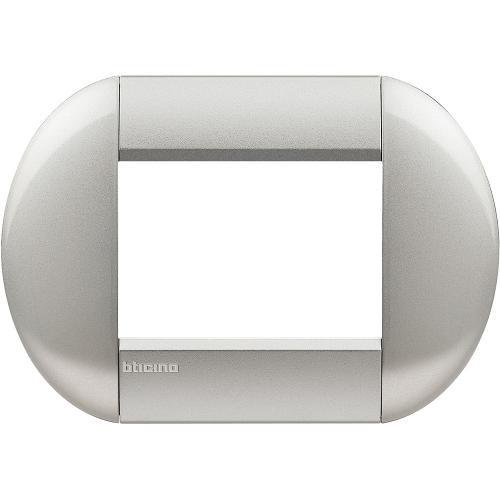 BTICINO - LNB4803TE Рамка 3М Tech Neutral елипсовидна Livinglight