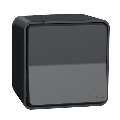 SCHNEIDER ELECTRIC - Влагозащитен Лихт бутон за открит монтаж MUR35026 Mureva Styl антрацит