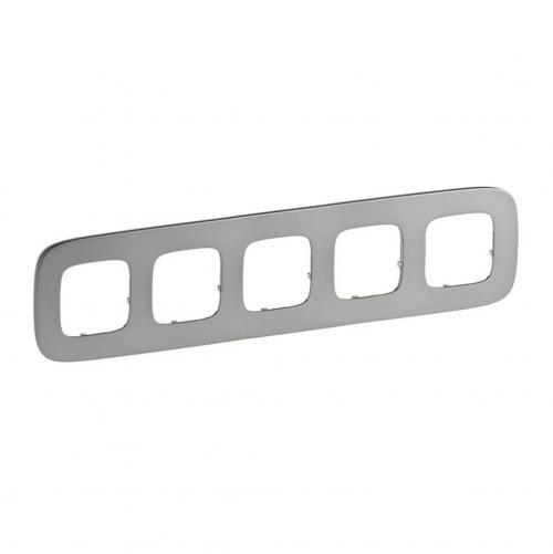 LEGRAND - Петорна рамка ALLURE 755505 светъл никел