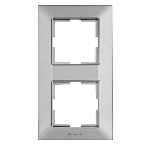 PANASONIC - Рамка двойна вертикална сиво PANASONIC Arkedia slim WNTF0812-2SL