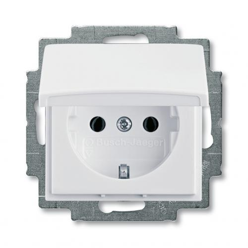 ABB - 2018-0-0351 SCHUKO socket outlet with hinged lid 20 EUK-92-507