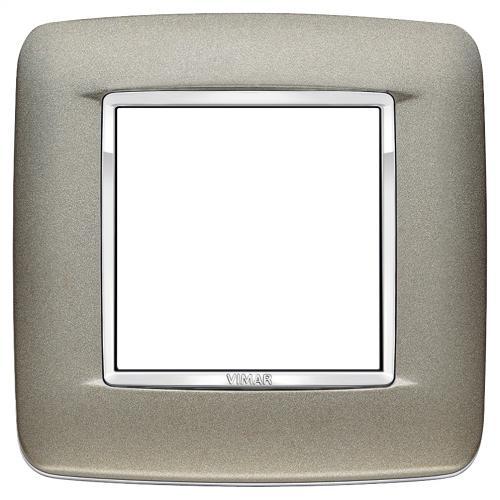 VIMAR - 20672.C14 - Round plate 2M Bright matt titanium