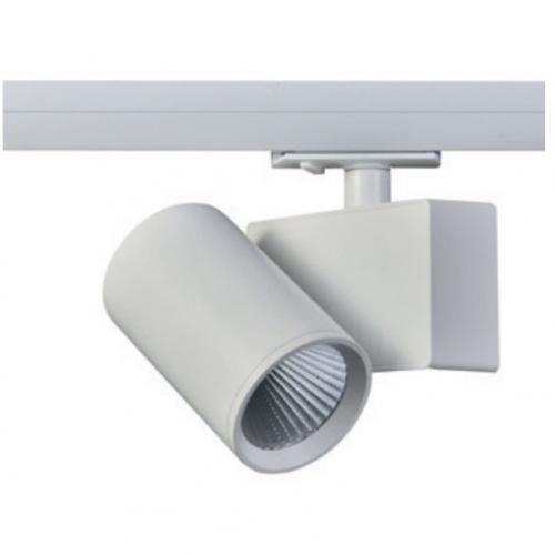 ACA LIGHTING - LED Прожектор за релсов монтаж LISOR 20W 4000K 3-фазен LISOR2040W4