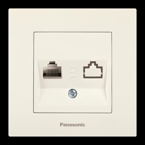 PANASONIC - Розетка компютър CAT5e Panasonic Kare крем WKTC04042BG‐EU1