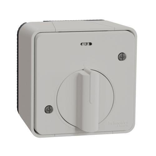 SCHNEIDER ELECTRIC - Ключ с времезакъснение за открит монтаж, MUR39067 Mureva Styl бял