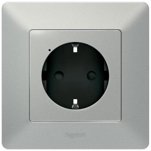 LEGRAND - Свързан контакт шуко 16А Netatmo 752394 Valena Life алуминий