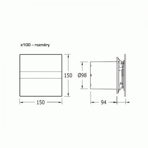 CATA - Вентилатор за баня CATA E-100 G