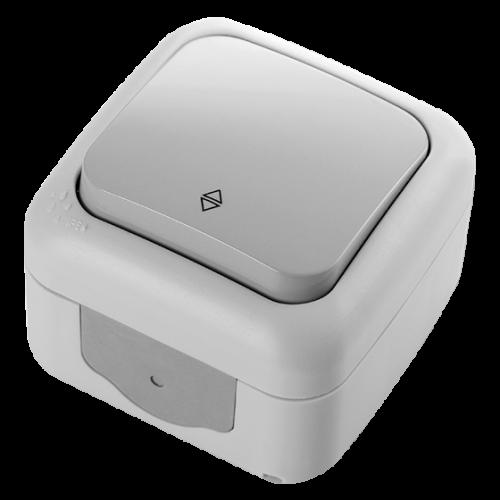 VIKO - девиаторен ключ Palmiye IP54 сив  влагозащитен
