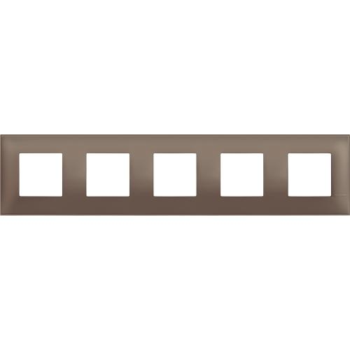 BTICINO - R4802M5TF cover plate - 2+2+2+2+2 horizontal/vertical installation modules - Terra soft