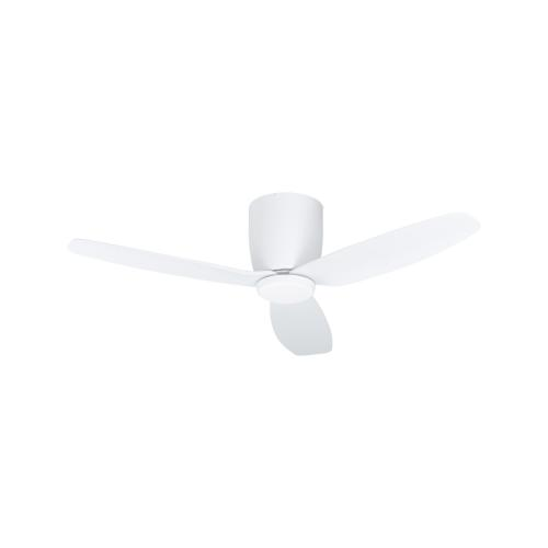 EGLO - Вентилатор със осветление AC 50W Ø1120/242+LED 15W 1850lm 4000K бяла осн./бяло с дист. BAVARO 35086