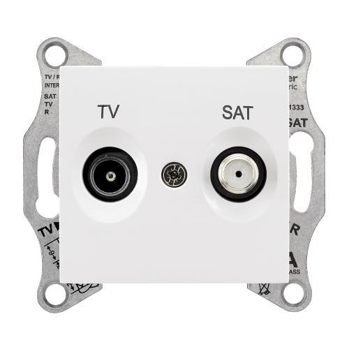 SCHNEIDER ELECTRIC - SDN3401621 TV-SAT розетка 1dB Sedna бял