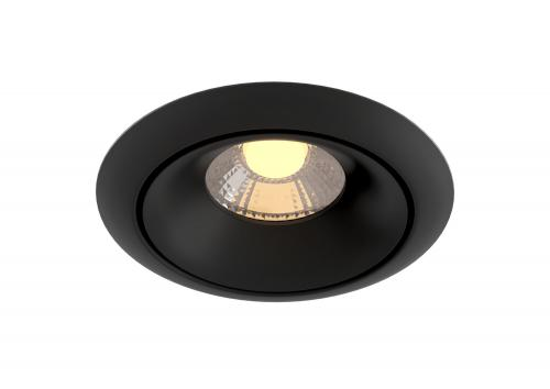 MAYTONI - LED Луна за вграждане кръгла черна Yin DL031-2-L8B