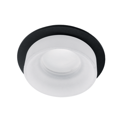 ELMARK - SA-045/1 луна за вграждане кръгла черна/бяла 92045R1/BLFR
