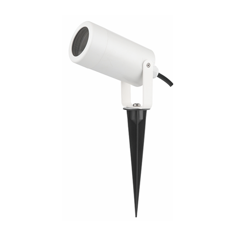 ACA LIGHTING - Градински прожектор бял с колче влагозащитен IP65 SL7030W