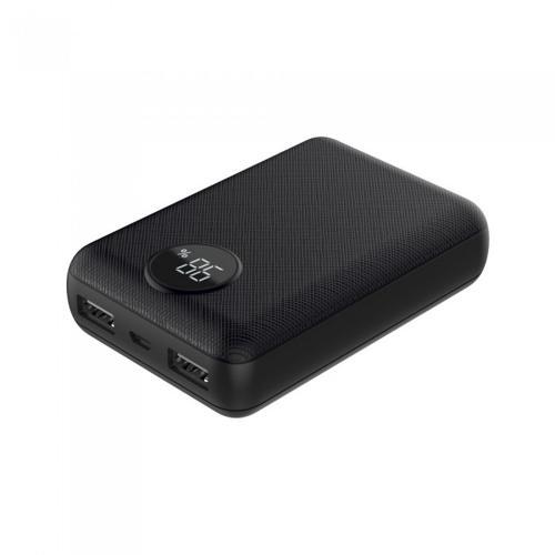V-TAC - Външна батерия 10000 mA/h, дисплей, черна, SKU: 8188 VT-3501