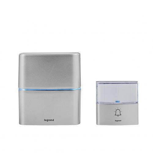 LEGRAND - 94271 Безжичен звънец алуминий комплект с бутон