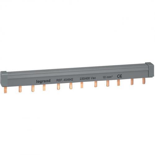 LEGRAND - Триполюсен захранващ гребен тип ПИН за max. 4 свързани устройства 10мм2 404942