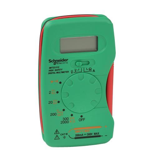 SCHNEIDER ELECTRIC - IMT23212 Дигитален мултицет компактен измерва до 220mA DC, AC/DC 2-300V и 2-200MOhm кат.III до 300V Thorsman
