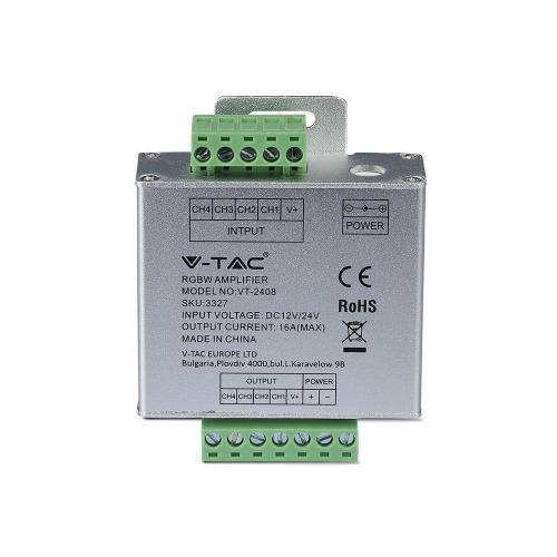 V-TAC - RGB+W Усилвател 144W SKU: 3327 VT-2408