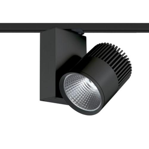 ACA LIGHTING - BIENAL3030B2 BLACK LED TRACK LIGHT 30W 3000K 2WIRES 36° 2200LM 230V Ra80