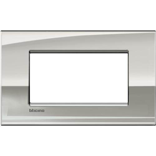BTICINO - LNC4804PL Рамка 4М Palladium метална Livinglight AIR