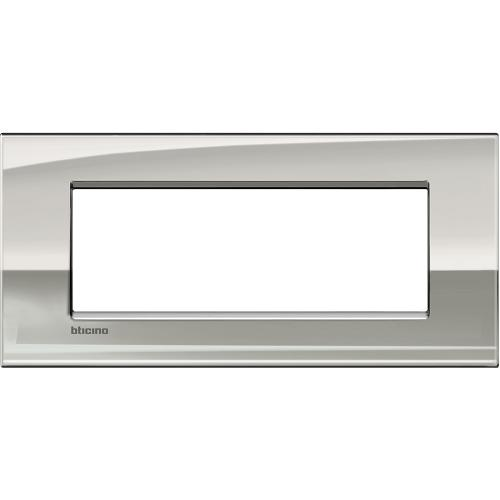 BTICINO - LNC4807PL Рамка 7М Palladium метална Livinglight AIR