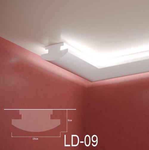 ADORN - Декоративен корниз за индиректно-осветление LD-09-2m 190х90 мм