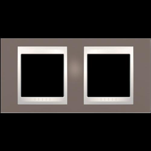 SCHNEIDER ELECTRIC - MGU6.004.876 рамка Unica Plus двойна бледо морав/слонова кост