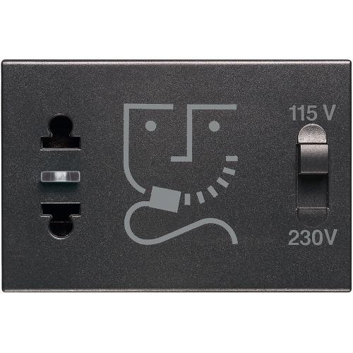 BTICINO - RG4177 Контакт за самобръсначка 3 мод. 230V Classia черен