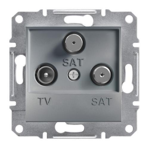 SCHNEIDER ELECTRIC - TV SAT SAT розетка крайна 1dB стомана Asfora EPH3600162