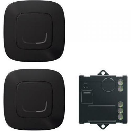 LEGRAND - Комплект ДЕВИАТОРНА инст-я включващ микромодул и 2х БЕЗжични ключа Smart Valena Allure Черно Netatmo 752850
